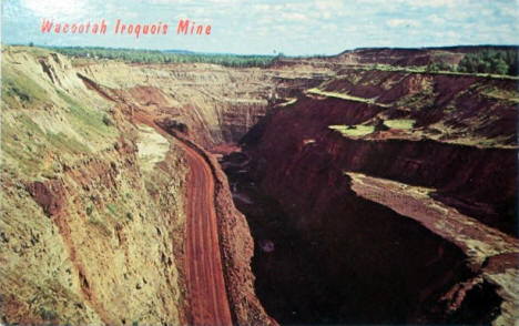 Wacootah Iroquois Mine, Mountain Iron Minnesota, early 1960's