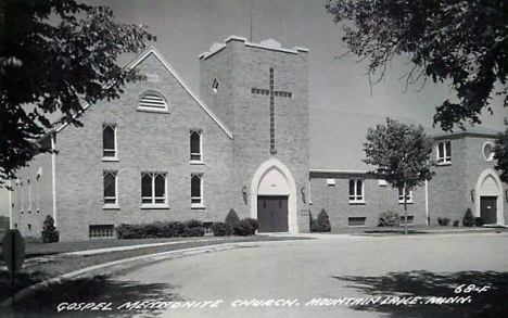 Gospel Mennonite Church, Mountain Lake Minnesota, 1950's