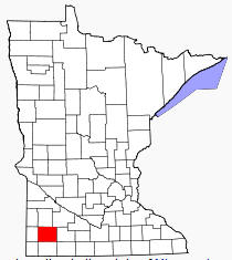 Location of Murray County Minnesota