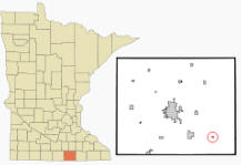 Location of Myrtle, Minnesota
