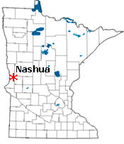Location of Nashua Minnesota