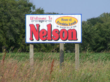 Welcome Sign, Nelson Minnesota, 2008