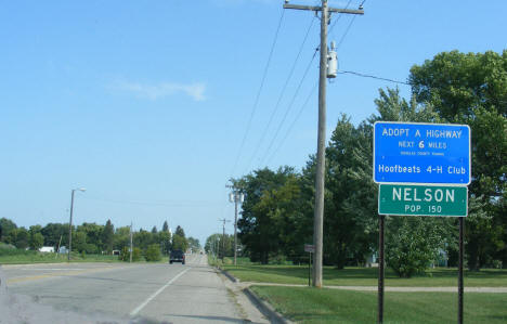 Entering Nelson Minnesota, 2008