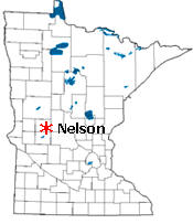 Location of Nelson Minnesota
