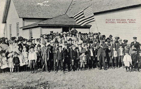 Fair at Nelson Public School, Nelson Minnesota, 1910