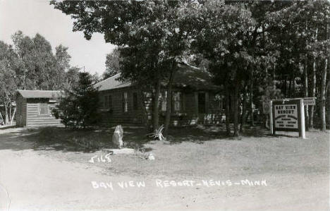 Bay View Resort, Nevis Minnesota, 1950's