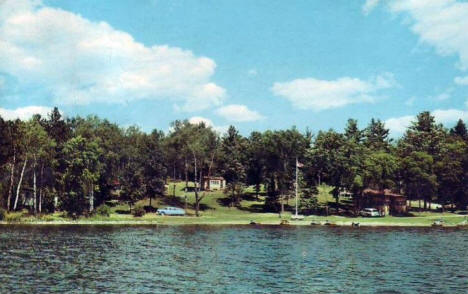 Timberlost Resort on West Crooked Lake near Nevis Minnesota, 1960