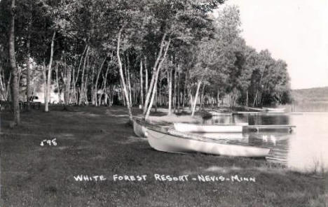 White Forest Resort, Nevis Minnesota, 1950's