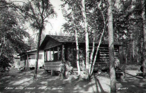 Crow Wing Camp, Nevis Minnesota, 1940's