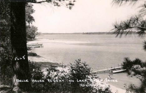 Belle Haven Resort on Lake Belle Taine, Nevis Minnesota, 1950's