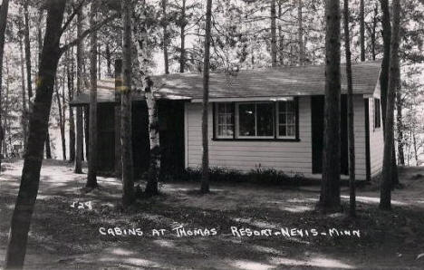 Cabins at Thomas Resort, Nevis Minnesota, 1950's