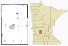 Location of New London, Minnesota