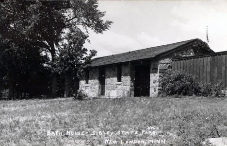 Bath House, Sibley State Park, New London Minnesota, 1940's