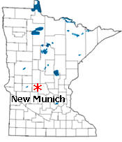 Location of New Munich Minnesota