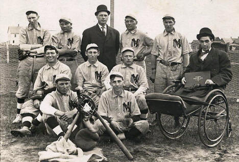 New Munich Baseball Team, New Munich Minnesota, 1910's?