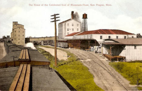 Home of the celebrated seal of Minnesota Flour, New Prague Minnesota, 1910's