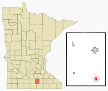 Location of New Richland, Minnesota