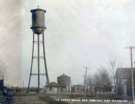 Power House and Water Tower, New Richland Minnesota, 1907