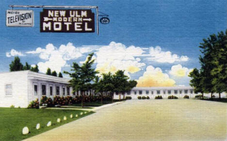 New Ulm Motel, New Ulm Minnesota, 1950's