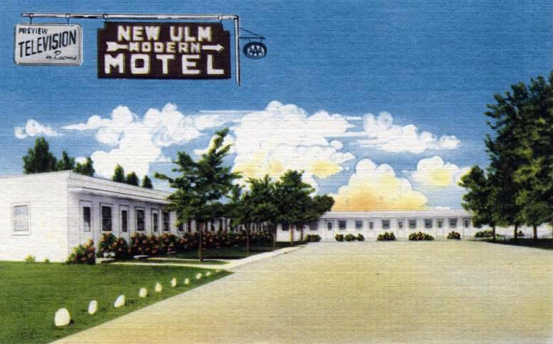 New Ulm Motel Minnesota 1950 S