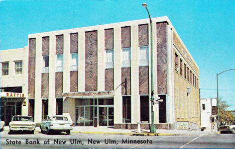 State Bank of New Ulm, New Ulm Minnesota, 1960's
