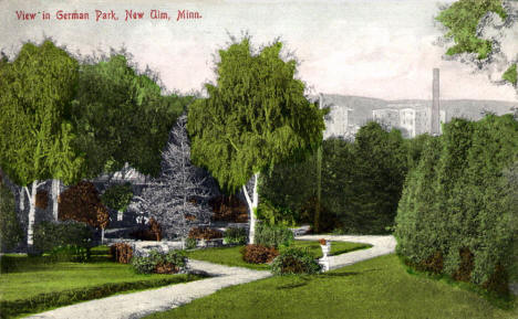 View in German Park, New Ulm Minnesota, 1900's