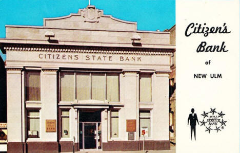 Citizen's Bank, New Ulm Minnesota, 1960's