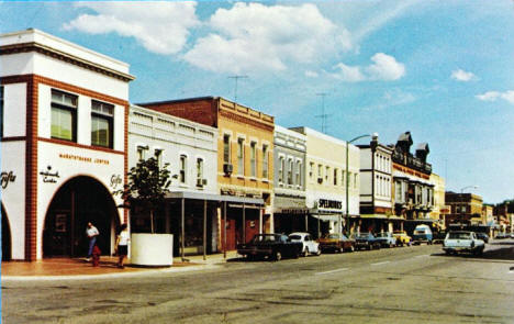 Street scene, New Ulm Minnesota, late 1960's or early 1970's