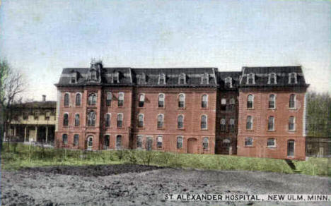 St. Alexander Hospital, New Ulm Minnesota, 1910