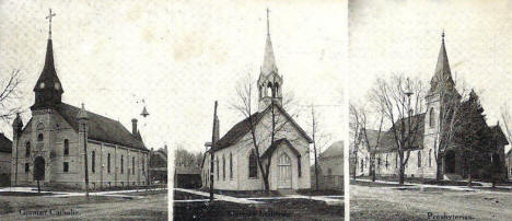 Churches, New Ulm Minnesota, 1907