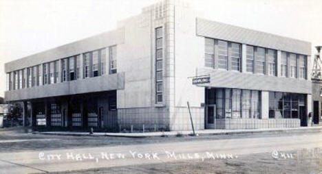 City Hall, New York Mills Minnesota, 1940's?