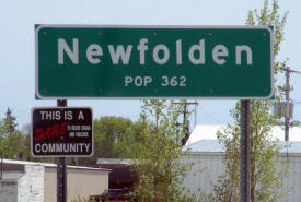 Newfolden Minnesota population sign