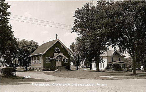 Catholic Church, Nicollet Minnesota, 1940's