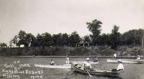 Rocky Point Resort on Gull Lake, Nisswa Minnesota, 1910's
