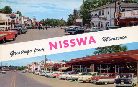 Greetings from Nisswa Minnesota, late 1950's