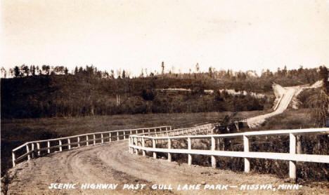 Scenic Highway past Gull Lake Park, Nisswa Minnesota, 1930's