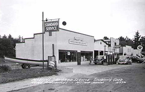 Martin's Sporting Goods and Home Appliances, Nisswa Minnesota, 1950
