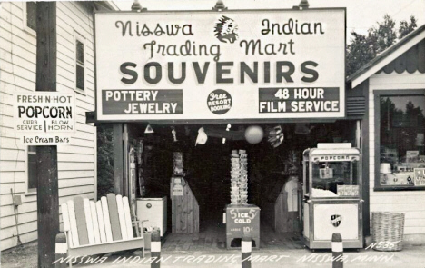 Indian Trading Mart, Nisswa Minnesota, 1950