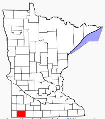Location of Nobles County Minnesota