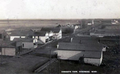 Birds eye view, Norcross Minnesota, 1911
