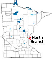 Location of North Branch Minnesota