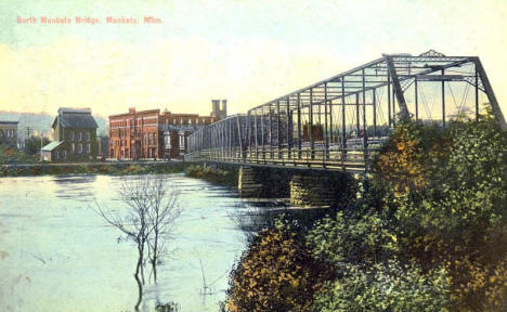 North Mankato Bridge, North Mankato Minnesota, 1910