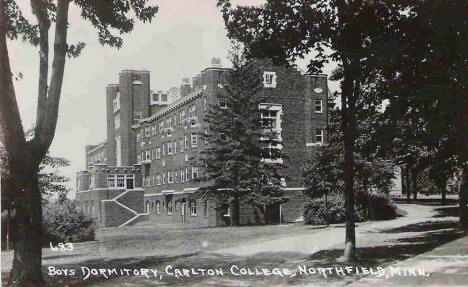 Boys Dormitory, Carleton College, Northfield Minnesota, 1950's