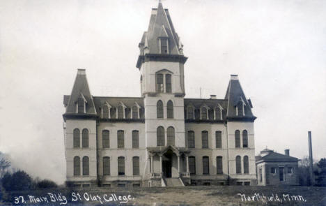 Main Building, St. Olaf College, Northfield Minnesota, 1910's?