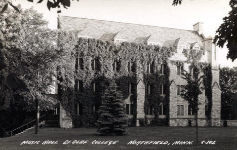 Music Hall, St. Olaf College, Northfield Minnesota, 1940's