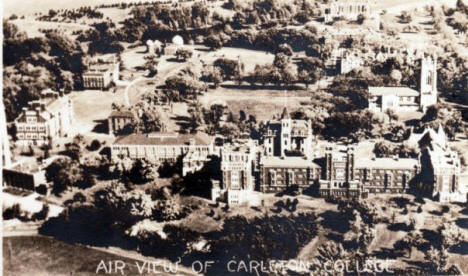 Aerial view of Carleton College, Northfield Minnesota, 1930's?