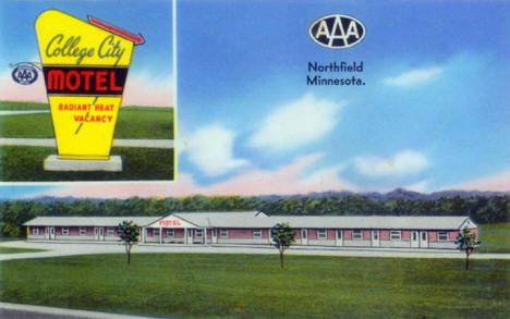 College City Motel, Northfield Minnesota, 1940's
