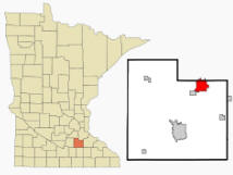 Location of Northfield, Minnesota