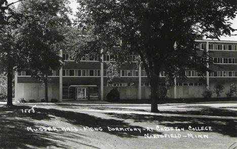 Musser Hall Men's Dormitory, Carleton College, Northfield Minnesota, 1960