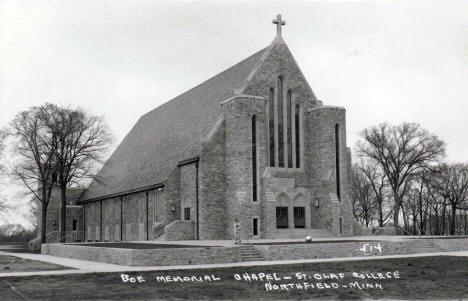 Boe Memorial Chapel, Northfield Minnesota, 1950's